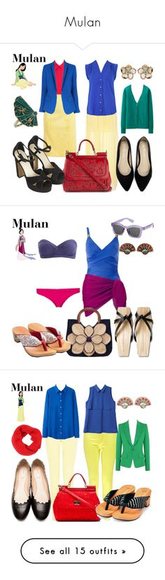 """Mulan"" by wonderlandofgeeks ❤ liked on Polyvore featuring disney, dreamcast, mulan, Mushu, shang, Alice + Olivia, Nina Ricci, Pull&Bear, Louche and Disney"