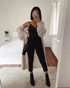 Idée de tenue - Outfit Ideas - Clothes - Lilly is Love Casual Fall Outfits, Classy Outfits, Spring Outfits, Trendy Outfits, Cute Outfits, Beautiful Outfits, Autumn Outfits, Outfit Summer, Casual Summer