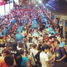 #doraemon #hongkong #harbourcity crazily packed... 趁下墟算了. - @stefinition- #webstagram