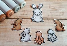 On day 2 of challenge the bunnies are debating what fun things to do on the weekend. Alcohol Markers, Copic Markers, Stamping Up, Rubber Stamping, Copic Drawings, Diy And Crafts, Paper Crafts, Lawn Fawn Stamps, Copics