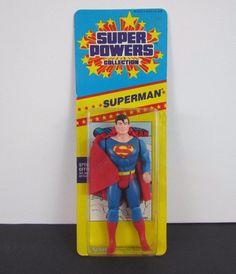 Vintage 1986 Super Powers Collection: SUPERMAN Action Figure - SEALED Kenner MIP #Kenner