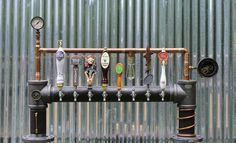 Custom Steam Punk Gadget Industrial Draft Beer Tower by TappedBeer, $2,890.00