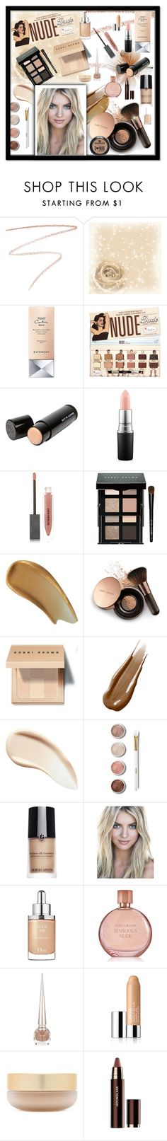 """""""Nude Beauty"""" by majezy ❤ liked on Polyvore featuring beauty, Charlotte Tilbury, Givenchy, Beauty Is Life, MAC Cosmetics, Burberry, Bobbi Brown Cosmetics, Prtty Peaushun, Nude by Nature and Hourglass Cosmetics"""