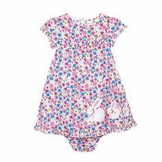 bluezoo Babies pink floral bunny dress- at Debenhams.com £12