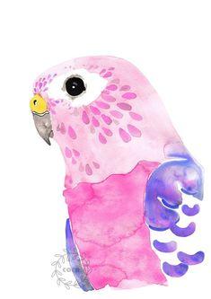 Watercolor Bird, Watercolor Illustration, Watercolor Paintings, Watercolor Portraits, Watercolor Landscape, Abstract Paintings, Art Paintings, Bird Artwork, Artwork Prints