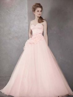 Vera Wang Bridesmaid Dresses In Blush