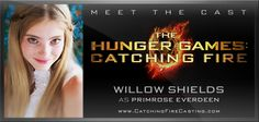 Please welcome back to the cast of The Hunger Games: Catching Fire, Willow Shields, as Primrose Everdeen!