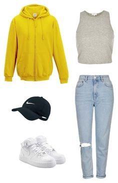 """Untitled #124"" by yasminabuwi on Polyvore featuring River Island, Topshop and NIKE"