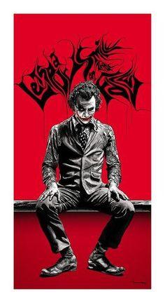 after 8 days of hard work. THE JOKER. The Joker Joker Heath, Le Joker Batman, Joker Y Harley Quinn, Batman Y Robin, Der Joker, Joker Art, Joker Comic, Joker Images, Joker Pics