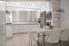 10 Cozinhas totalmente brancas - veja modelos e dicas de como decorá-las!