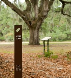 trail marker signage