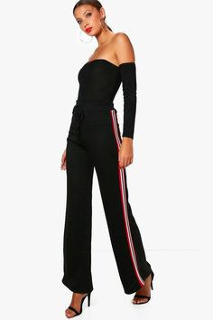Tall Megan Sports Trim Wide Leg Joggers