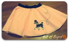 How to make a poodle skirt...super fast and easy! I made one for a girlfriend and her 1 yr old baby. They turned out super cute!