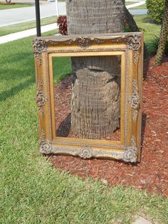 Antique/Vintage Victorian Solid Wood Large Heavy Thick Empty Picture Frame Gold Gilded with Detailed Carvings x Empty Picture Frames, Old Frames, Near To You, Gold Gilding, West Palm Beach, All Pictures, Heavenly, Solid Wood, Carving