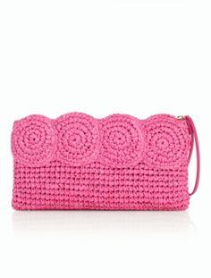 Crochet Paper Straw Clutch - Talbots