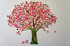 Here's the tree of hearts in pink. Maybe an idea for Valentine's Day?  See my also my former blogpost Tree of hearts