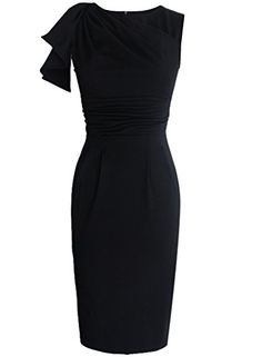 b9e45863f10 VfEmage Womens Celebrity Elegant Ruched Wear to Work Party Prom Bodycon  Dress