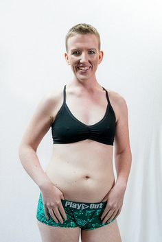 Model wearing AnaOno bra and Play Out boxer briefs