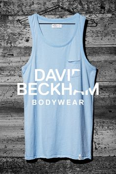 Light blue cotton tank top, Bodywear Selected by Beckham collection. | H&M For Men