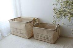 【风物札记】日本zakka 外单家居用品 棉麻纯色收纳盒收纳篮