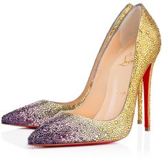 SO KATE STRASS DEGRADE  , JAUNE, Strass, Women Shoes, Louboutin. ($3,015) ❤ liked on Polyvore featuring shoes, pumps, heels, louboutin, christian louboutin, heels stilettos, stiletto heel shoes, sexy stiletto pumps, pointed toe stiletto pumps and high heel stilettos
