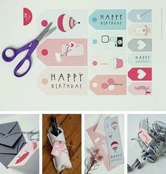 Etiquetas imprimibles en manualidades y detalles para regalar, regalos y obsequios originales