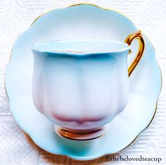 Royal Albert Rainbow Pastel Blue 1930's Hampton Shape Teacup and Saucer by TheBelovedTeacup on Etsy https://www.etsy.com/au/listing/228807892/royal-albert-rainbow-pastel-blue-1930s