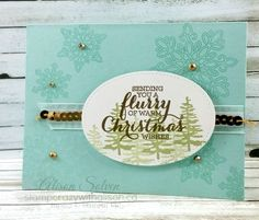 Flurry of WIshes Stamp Set Greetings from Santa Stitched Shapes framelits dies #stampinup www.stampcrazywithalison.ca