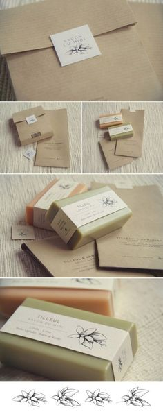 Packaging, illustration and Brand Design for Savon du Midi. The packaging is made with recycled and recyclable natural products like kraft paper for the box and printed with ecological ink, using only...