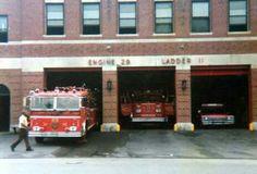 Boston Engine 29, ward Lafrance and Ladder 11, ALF tiller