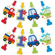 All Aboard 1st Birthday Blowouts 8ct - Party City