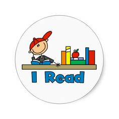 Shop I Read Classic Round Sticker created by stick_figures. Drawing For Kids, Art For Kids, Crafts For Kids, Rock Crafts, Cute Crafts, Top Kids Books, Nurses Week Quotes, Stick Figure Drawing, Pebble Painting