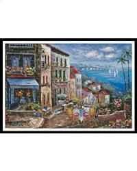 Sunday Afternoon Painting: A Cross Stitch Chart by Artecy Cross Stitch Sewing Crafts, Larger, Cross Stitch, Sunday, Painting, Image, Art, Art Background, Punto De Cruz