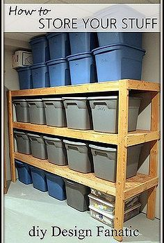 how do you store your stuff, shelving ideas, storage ideas, woodworking projects, A storage area in your basement in garage doesn t have to ...