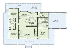 Plan #21631: 3 Bedroom, 3 Bath House Plan With 2 Car Garage