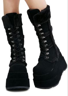Black Platform Boots, Platform Shoes, Black Boots, Cute Shoes, Me Too Shoes, Edgy Shoes, Gothic Shoes, Pretty Shoes, Doc Martens