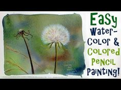 LIVE Dandelion Fluff in Watercolor & Colored Pencil Painting Tutorial - YouTube