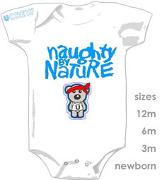 Naughty by Nature Onesie by ucrew on Etsy