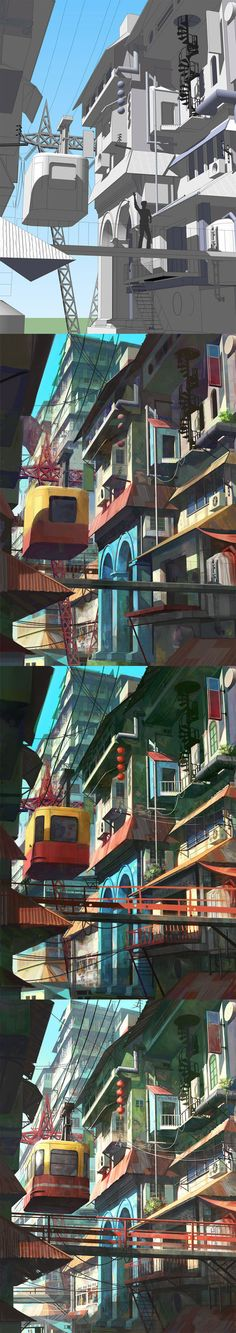 The detail at the end is fabulous. What a gorgeous style.  Google sketchup to painting by *FeiGiap on deviantART