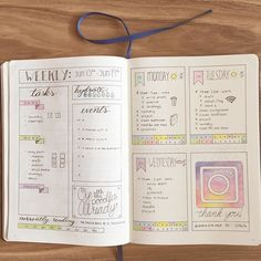 Productive week so far!  I can't believe we're half way through June already! It's almost time to start prepping for July!  How's your month been so far?  . . . . . . . . #bulletjournalcommunity #bulletjournal #planner #plannercommunity