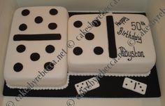 Domino Cake Birthday Cakes For Men, 75th Birthday, Birthday Cookies, Birthday Ideas, Buttercream Fondant, Fondant Cakes, Cupcake Cakes, Breakfast Cake, Just Cakes