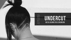 How to Undercut with geometric drawing   Santana Hair&Art® #haircut #undercut #modernhair
