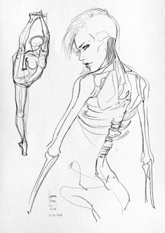 Some #sketches and anatomical studies: