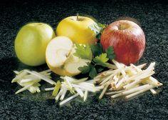 Manzanas en bastones finos
