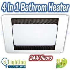 Excel 4 In 1 Bathroom Exhaust, Heater, Fan & Light - 99959/05-Excel 53793, 3 IN 1 - EXHAUST, HEAT & LIGHT
