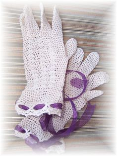 Bridal VINTAGE  Crocheted GLOVES very Jackie O ! by WildExpressionsBride  www.wildexpressionsbride.etsy.com