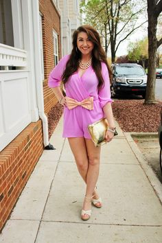 Lavender romper from Fiore Boutique