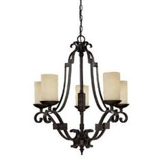 Check out the Capital Lighting 3605RI-125 River Crest 5 Light Chandelier priced at $598.00 at Homeclick.com.