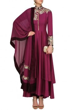 Manish Malhotra Purple Resham Embroidered Anarkali Set #happyshopping#shopnow#ppus