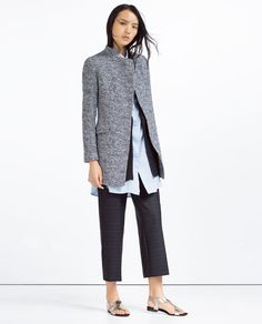 ZARA - COLLECTION SS16 - LONG BLAZER WITH CROSSOVER NECKLINE